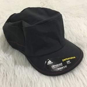 Adidas black climacool fitness athletic hat